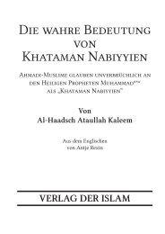 Download PDF Flyer - Ahmadiyya Muslim Jamaat Schweiz