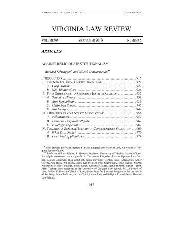 View Full PDF - Virginia Law Review