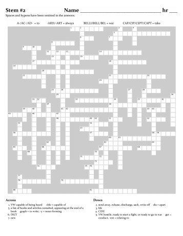 Vocab. 2 Puzzle