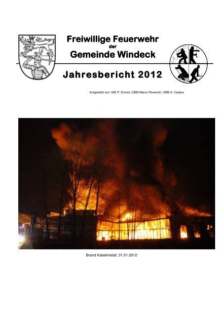 Jahresbericht 2012 - Feuerwehr Windeck