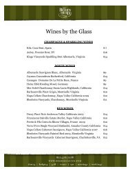 Wines by the Glass - Boar's Head Inn