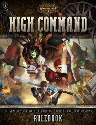 WARMACHINE High Command Rulebook - Privateer Press