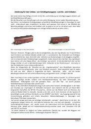 Seite 1 Anleitung für den Umbau von Schüttgutwaggons zum Be ...