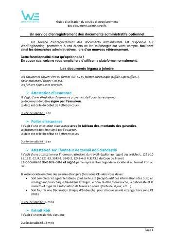 Modele Attestation Sur L Honneur Pdf