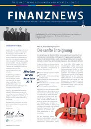 Ausgabe 1-2013 - Achatz + Seibold Finanz