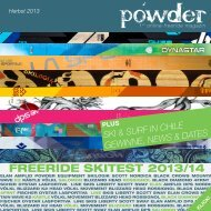 FREERIDE SKITEST 2013/14 - powder magazin