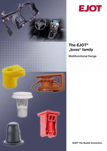 "The EJOT® ""boss"" family - Ejot & Avdel"