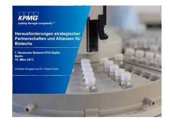 Vortrag von Christian Klingbeil (KPMG AG WPG) - BIO Deutschland