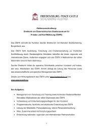 Freie Stelle - Friedensburg Schlaining