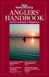 Nova Scotia Anglers' Handbook & 2013 Summary of Regulations