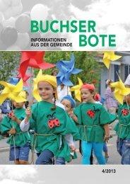Ausgabe_4_2013 [PDF, 6.00 MB] - Gemeinde Buchs