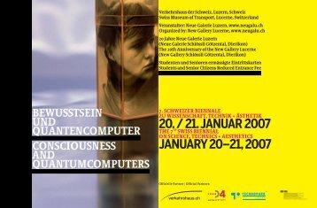 2007 Programmbroschüre Bewusstsein und Quantencomputer