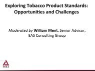 Exploring Tobacco Product Standards: Opportuni,es and Challenges