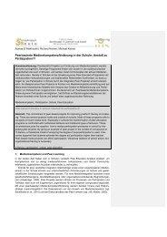 Peerbasierte Medienkompetenzförderung in der Schule: Anstoß zu ...