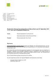 Protokoll der Sitzung vom 26. September 2013 - Gemeinde Glarus ...