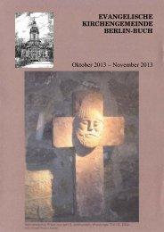 November 2013 - Evangelische Kirche Berlin-Buch