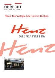 Bericht Metzgerei Henz - OBRECHT Technologie AG