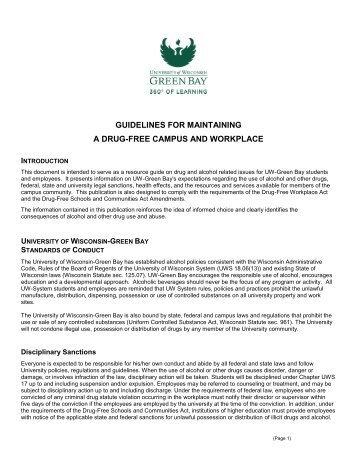 guidelines for maintaining - University of Wisconsin - Green Bay