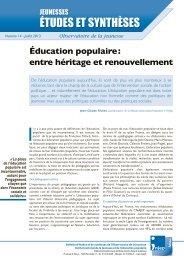 Éducation populaire : entre héritage et renouvellement - Injep