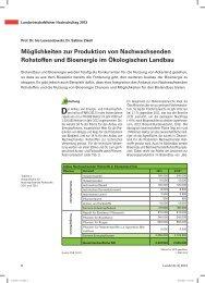 Möglichkeiten zur Produktion von Nachwachsenden Rohstoffen und ...