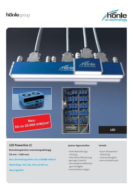 Produktinformation LED Powerline LC - Dr. Hönle AG