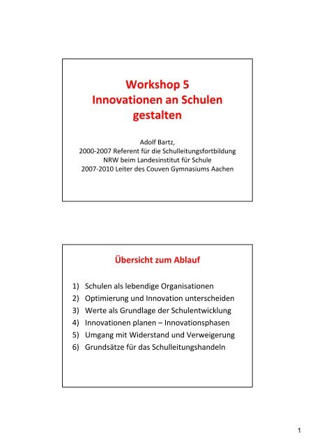 Präsentation - NiBiS WordPress Netzwerk