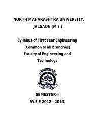Engineering Physics - North Maharashtra University