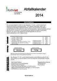 Abfallkalender 2014 - Gemeinde Rothrist