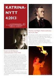 Katrinanytt 4:2013 - Kulturföreningen Katrina