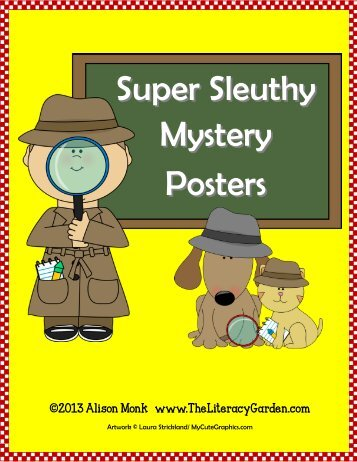 TO DOWNLOAD Mystery Poster Set - The Literacy Garden