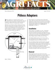 Pitless Adaptors - Agriculture and Rural Development