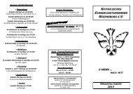 Jahresprogramm 2013 - Katholisches Evangelisationswerk ...