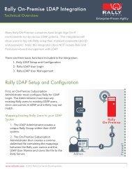 Rally On-Premise LDAP Integration - Rally Software
