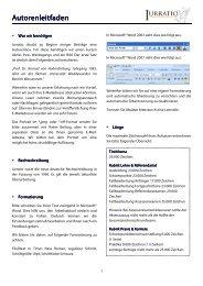 Autorenleitfaden Autorenleitfaden - Iurratio
