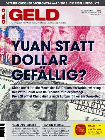 China attackiert die Macht des US-Dollars als ... - GELD-Magazin