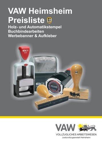 Download Stempelkatalog - Justizvollzugsanstalt Heimsheim