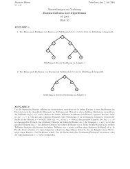 Musterlösungen zur Vorlesung Datenstrukturen und Algorithmen SS ...