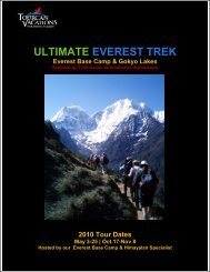 Everest BC & Gokyo Lakes trek 2010 - Brochure - The Skylink Group ...
