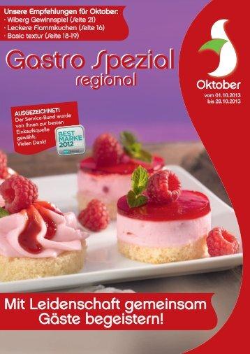 Gastro Spezial Regional - Oktober 2013 - Recker Feinkost GmbH