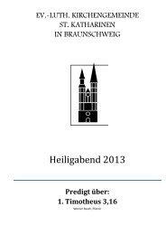 nachlesen - St. Katharinen Braunschweig
