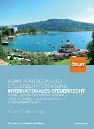 ögwt pörtschacher steuerberatertagung internationales steuerrecht