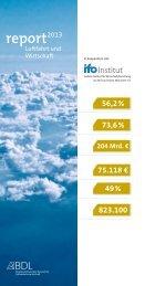 BDL Report Luftfahrt und Wirtschaft 2013