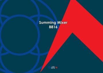 Summing Mixer 8816 - Citysoundpro