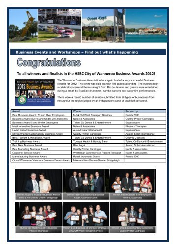 To all winners and finalists in the HSBC City of Wanneroo Business ...
