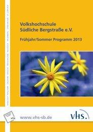 Volkshochschule Südliche Bergstraße e.V. - vhs Südliche ...