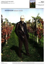 INTERVIEW ROGER CORDER - Domaine de Saint Guilhem