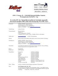 EWU C-Turnier 19. – 21.08.2005 Reiterhof Küffner Neudeck ...