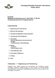 Protokoll Mitgliederversammlung 2013 - Feuerwehrinstruktoren