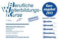Kurs- angebot 2013 - BWK