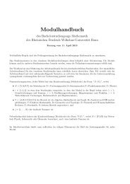 Modulhandbuch - Mathematik in Bonn - Universität Bonn